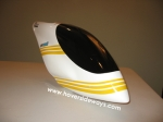 T-Rex 600 canopy with yellow striping